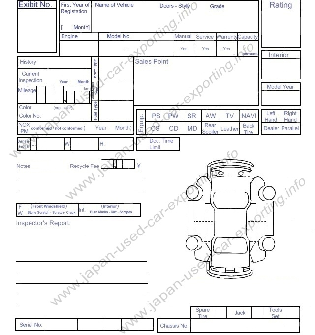 Printable Vehicle Inspection Sheets | Search Results | Calendar 2015