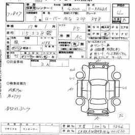 Japanese Auto Auction Inspection Sheet